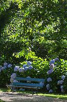 France, Aquitaine, Pyrénées-Atlantiques, Pays Basque, Biarritz : La Villa Natacha, dans le quartier Saint-Martin , le jardin //  France, Pyrenees Atlantiques, Basque Country, Biarritz:  Villa Natacha,   Saint-Martin distric, the garden