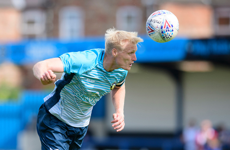 Gainsborough Trinity's Nathan Stainfield<br /> <br /> Photographer Chris Vaughan/CameraSport<br /> <br /> Football Pre-Season Friendly (Community Festival of Lincolnshire) - Gainsborough Trinity v Lincoln City - Saturday 6th July 2019 - The Martin & Co Arena - Gainsborough<br /> <br /> World Copyright © 2018 CameraSport. All rights reserved. 43 Linden Ave. Countesthorpe. Leicester. England. LE8 5PG - Tel: +44 (0) 116 277 4147 - admin@camerasport.com - www.camerasport.com