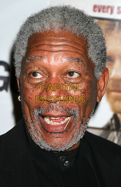 "MORGAN FREEMAN.""An Unfinished Life""  - After Party Arrivals at Megu Resturant in New York City.September 7, 2005.headshot portrait toothpick in mouth beard facial hair mouth open.www.capitalpictures.com.sales@capitalpictures.com.©Capital Pictures"