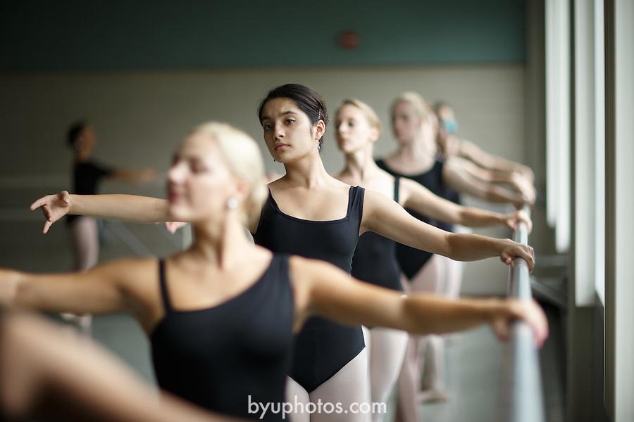 1309-37 119<br /> <br /> 1309-37 Theatre Ballet Class<br /> <br /> Shani Robison<br /> <br /> September 13, 2013<br /> <br /> Photo by Jaren Wilkey/BYU<br /> <br /> &copy; BYU PHOTO 2013<br /> All Rights Reserved<br /> photo@byu.edu  (801)422-7322
