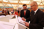 Palestinian Prime Minister Rami Hamdallah participates in Palestine International Book Fair at its eleventh session, in the West Bank city of Ramallah on May 6, 2018. Photo by Prime Minister Office
