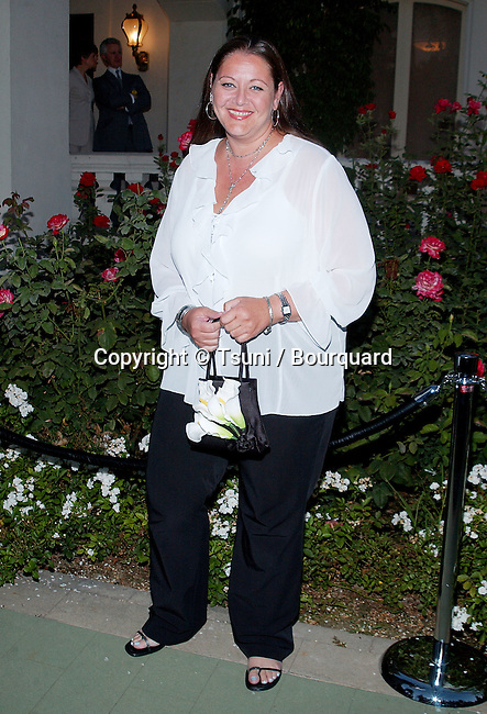 "Canryn Manheim arriving at the party for the ""2002 Summer Press Tour All-Star"" at the Toutnament House in Pasadena, Los Angeles. July 18, 2002."