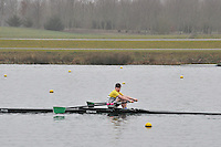 096 Staines J16A.1x..Marlow Regatta Committee Thames Valley Trial Head. 1900m at Dorney Lake/Eton College Rowing Centre, Dorney, Buckinghamshire. Sunday 29 January 2012. Run over three divisions.