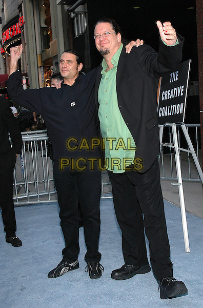 """26 July 2005 - New York, New York - Penn Jillette and Paul Provenza arrive at the premiere of their new film, """"The Aristocrats"""", at The Directors Guild Theater in Manhattan.  .Photo Credit: Patti Ouderkirk/AdMedia"""