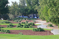 The 16th tee during the Pro-Am for the DP World Tour Championship at the Jumeirah Golf Estates in Dubai, UAE on Monday 16/11/15.<br /> Picture: Golffile | Thos Caffrey<br /> <br /> All photo usage must carry mandatory copyright credit (&copy; Golffile | Thos Caffrey)
