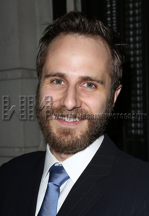Matt Harrington greets fans at the stage door after the Broadway Opening Night Performance of 'Twelfth Night' at the Belasco Theatre on November 10, 2013 in New York City.