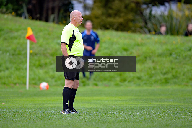 NELSON, NEW ZEALAND - APRIL 29: FC Nelson 1st XI v Nelson College 1st XI, April 29, 2017, Guppy Park, Nelson, New Zealand. (Photo by: Barry Whitnall Shuttersport Limited)