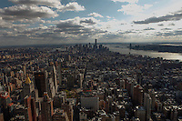 A visit to 82nd floor of the Empire State Building. in New York , April 23, 2014. VIEWPRESS/Kena Betancur
