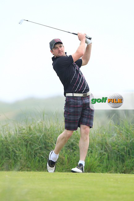 William Hanna (Kilkeel) on the 10th tee during Round 1 of the East of Ireland in the Co. Louth Golf Club at Baltray on Saturday 31st May 2014.<br /> Picture:  Thos Caffrey / www.golffile.ie