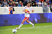Juan Pablo Angel (9) of the New York Red Bulls. The New York Red Bulls defeated the Kansas City Wizards 1-0 during a Major League Soccer (MLS) match at Red Bull Arena in Harrison, NJ, on October 02, 2010.