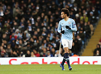 Manchester City's Leroy Sane<br /> <br /> Photographer Rich Linley/CameraSport<br /> <br /> UEFA Champions League Group F - Manchester City v TSG 1899 Hoffenheim - Wednesday 12th December 2018 - The Etihad - Manchester<br />  <br /> World Copyright © 2018 CameraSport. All rights reserved. 43 Linden Ave. Countesthorpe. Leicester. England. LE8 5PG - Tel: +44 (0) 116 277 4147 - admin@camerasport.com - www.camerasport.com