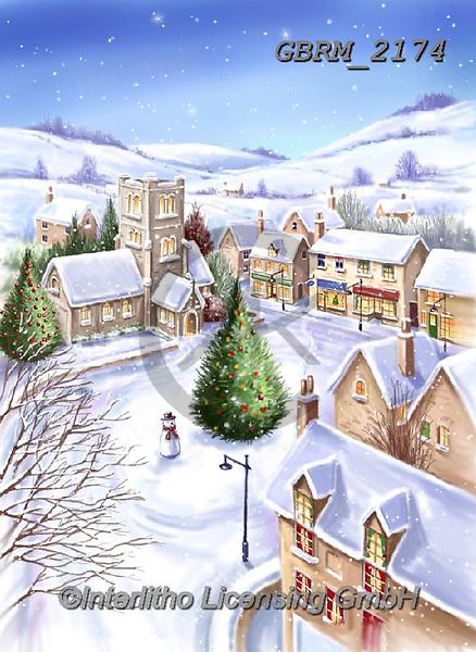 Roger, CHRISTMAS LANDSCAPES, WEIHNACHTEN WINTERLANDSCHAFTEN, NAVIDAD PAISAJES DE INVIERNO, paintings+++++,GBRM2174,#xl#