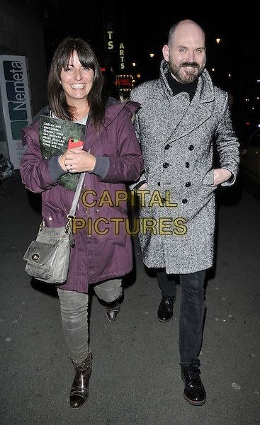 LONDON, ENGLAND - FEBRUARY 27: Davina McCall &amp; guest attend the &quot;Ghost Stories&quot; press night, The Arts Theatre, Great Newport St., on Thursday February 27, 2014 in London, England, UK.<br /> CAP/CAN<br /> &copy;Can Nguyen/Capital Pictures