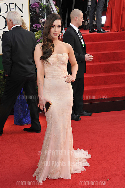 Megan Fox at the 70th Golden Globe Awards at the Beverly Hilton Hotel..January 13, 2013  Beverly Hills, CA.Picture: Paul Smith / Featureflash