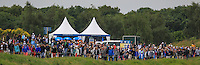 The crowd along the 18th fairway during Round 2 of the 100th Open de France, played at Le Golf National, Guyancourt, Paris, France. 01/07/2016. <br /> Picture: Thos Caffrey | Golffile<br /> <br /> All photos usage must carry mandatory copyright credit   (&copy; Golffile | Thos Caffrey)