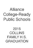 ALLIANCE 2015 Collins Family H.S. Graduation