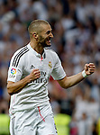 """Spanish  League""- match Real Madrid Vs FC Barcelona- season 2014-15 - Santiago Bernabeu Stadium -Karim Benzema (Real Madrid) Celebrates a goal during the Spanish League match against FC Barcelona(Photo: Guillermo Martinez/Bouza Press/ALTERPHOTOS)"