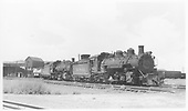 D&amp;RGW #490 &amp; #482 double-headed near the Alamosa roundhouse.<br /> D&amp;RGW  Alamosa, CO