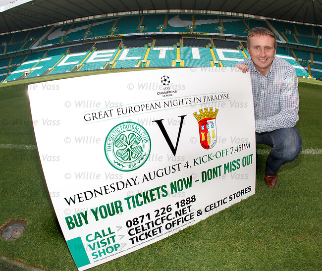 Tom Boyd promoting Celtic's European tickets for the SC Braga Champions League qualifier