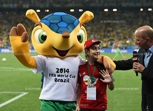 Fuleco, JUNE 12, 2014 - Football / Soccer : FIFA World Cup Brazil 2014 Group A match between Brazil 3-1 Croatia at Arena de Sao Paulo in Sao Paulo, Brazil. (Photo by SONG Seak-In/AFLO)
