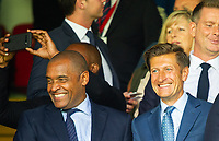 Crystal Palace Mark Bright and chairman Steve Parish during the Premier League match between Crystal Palace and Everton at Selhurst Park, London, England on 10 August 2019. Photo by Andrew Aleksiejczuk / PRiME Media Images.