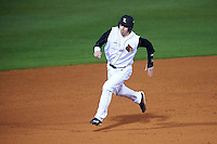 Louisville Cardinals first baseman Brendan McKay (38) running the bases during a game against the Maryland Terrapins on February 18, 2017 at Spectrum Field in Clearwater, Florida.  Louisville defeated Maryland 10-7.  (Mike Janes/Four Seam Images)