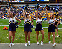 Pitt Panther cheerleaders. The Pitt Panthers football team defeated the Georgia Tech Yellow Jackets 24-19 on September 15, 2018 at Heinz Field in Pittsburgh, Pennsylvania.