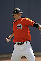 Delmarva Shorebirds Brandon Erbe before the South Atlantic League All-Star game at Classic Park on June 20, 2006 in Eastlake, Ohio.  (Mike Janes/Four Seam Images)
