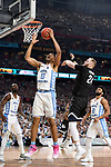 GLENDALE, AZ - APRIL 03: Tony Bradley #5 of the North Carolina Tar Heels grabs a rebound during the 2017 NCAA Men's Final Four National Championship game against the Gonzaga Bulldogs at University of Phoenix Stadium on April 3, 2017 in Glendale, Arizona.  (Photo by Jamie Schwaberow/NCAA Photos via Getty Images)