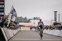 Mathieu van der Poel (NED/Beobank-Corendon) winning his 11th race of the season (out of 13 disputed)<br /> <br /> Super Prestige Ruddervoorde / Belgium 2017