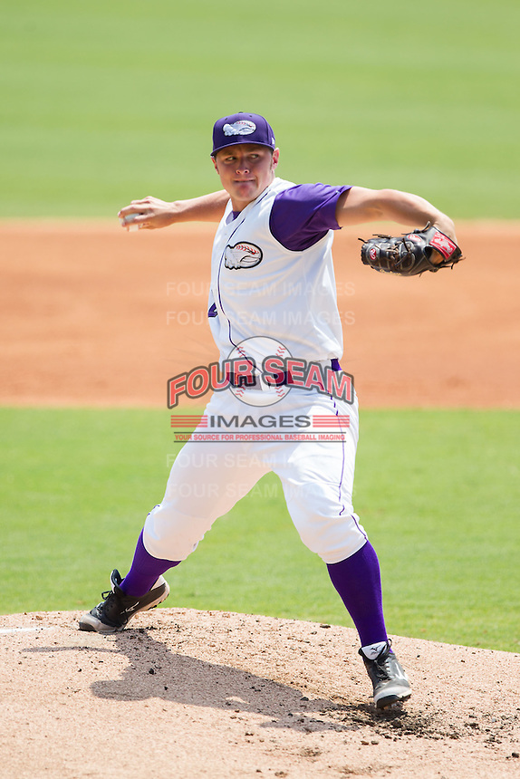 Winston-Salem Dash starting pitcher J.B. Wendelken (24) in action against the Frederick Keys at BB&T Ballpark on July 30, 2014 in Winston-Salem, North Carolina.  The Dash defeated the Keys 12-2.   (Brian Westerholt/Four Seam Images)