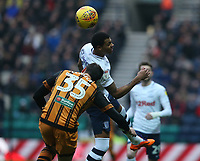 Preston North End's Lukas Nmecha and Hull City's Tommy Elphick<br /> <br /> Photographer Stephen White/CameraSport<br /> <br /> The EFL Sky Bet Championship - Preston North End v Hull City - Wednesday 26th December 2018 - Deepdale Stadium - Preston<br /> <br /> World Copyright &copy; 2018 CameraSport. All rights reserved. 43 Linden Ave. Countesthorpe. Leicester. England. LE8 5PG - Tel: +44 (0) 116 277 4147 - admin@camerasport.com - www.camerasport.com