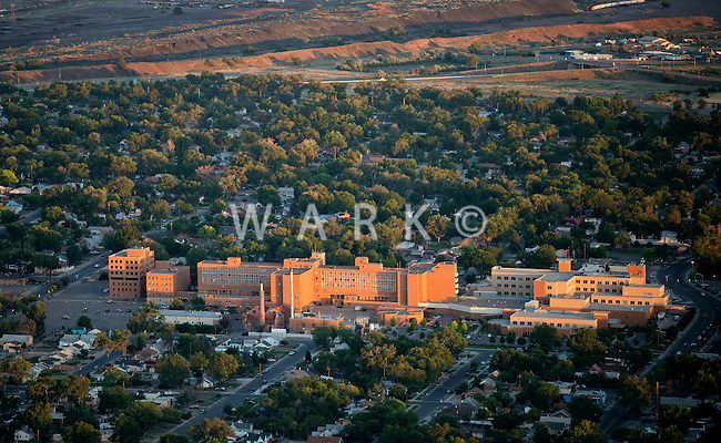 Sunset on St. Mary Corwin Hospital, Pueblo, Colorado. June 2014