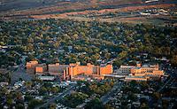 Sunset on St. Mary Corwin Hospital, Pueblo, Colorado. June 2014