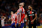Saul Niguez of Atletico de Madrid during the UEFA Europa League match between Atletico de Madrid and Bayer 04 Leverkusen at Wanda Metropolitano Stadium in Madrid, Spain. October 22, 2019. (ALTERPHOTOS/A. Perez Meca)