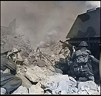 BNPS.co.uk (01202 558833)<br /> Pic:  ChiswickAuctions/BNPS<br /> <br /> Allies launching the assault at Monte Cassino.<br /> <br /> Remarkable previously unseen photos documenting the momentous closing stages of World War Two and its historic aftermath have come to light.<br /> <br /> They were taken by Sergeant Charles Hewitt, of the Army Film and Photographic Unit, who later went on to work for the Picture Post and the BBC.<br /> <br /> He was present at many of the important offensives of 1944 and '45 including the Battle of Monte Cassino during the Italian Campaign and the Allies advance into Germany following the D-Day invasion.