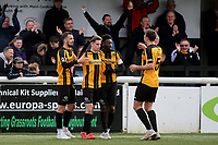 Maidstone players congratulate Jake Embery after scoring their opening goal during Maidstone United vs Havant and Waterlooville, Vanarama National League Football at the Gallagher Stadium on 9th March 2019