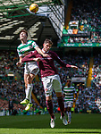 Kyle Lafferty challenges Celtic's Kieran Tierney