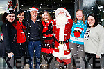 Megan Kenny, Mary Lucey (Principle Kerry College of Further Education), Jack O'Connor, Linda O'Shea, Santa, Caitriona Flynn and Emily Galvin, pictured at Kerry College of Further Education Christmas party on Friday morning last.