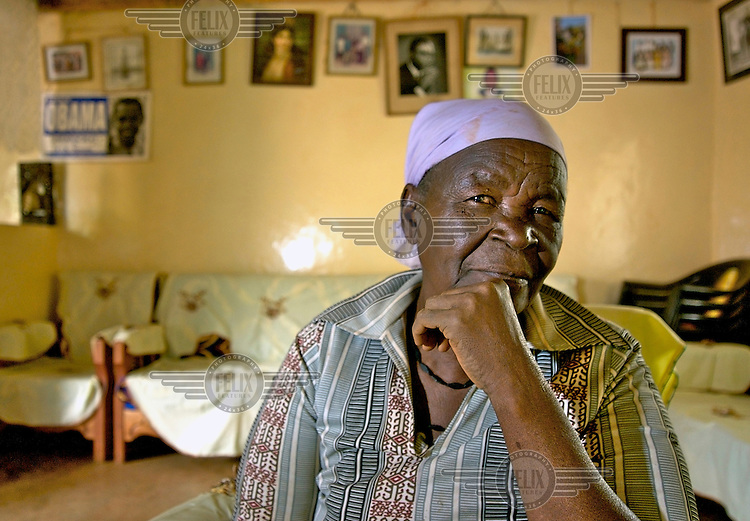 Sarah Hussein Obama, the grandmother of Democrat Senator and US presidential candidate Barack Obama, whose father was born and brought up here in the village of Nyangoma Kogelo.