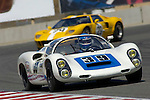 Howard Cherry races a 1966 Porsche 910 at the 32nd Rolex Monterey Historic Automobile Races, 2005