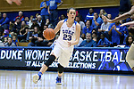 29 January 2017: Duke's Rebecca Greenwell. The Duke University Blue Devils hosted the Old Dominion University Monarchs at Cameron Indoor Stadium in Durham, North Carolina in a 2016-17 Division I Women's Basketball game. Duke won the game 71-43.