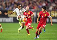 Phoenix, AZ - December 13, 2015: The USWNT defeated China 2-0 during the Victory Tour at University of Phoenix Stadium.
