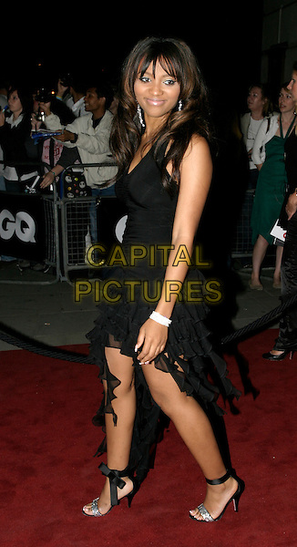 TEAIRRA MARI.The 8th Anual GQ Men of The Year Awards,.The Royal Opera House,.London, 6th September 2005.full length black dress silver earrings .www.capitalpictures.com.sales@capitalpictures.com.© Capital Pictures.
