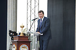 Nick Faldo's speech at the opening ceremony of the 37th Ryder Cup at Valhalla Golf Club, Louisville, Kentucky, USA - 18th September 2008 (Photo by Manus O'Reilly/GOLFFILE)