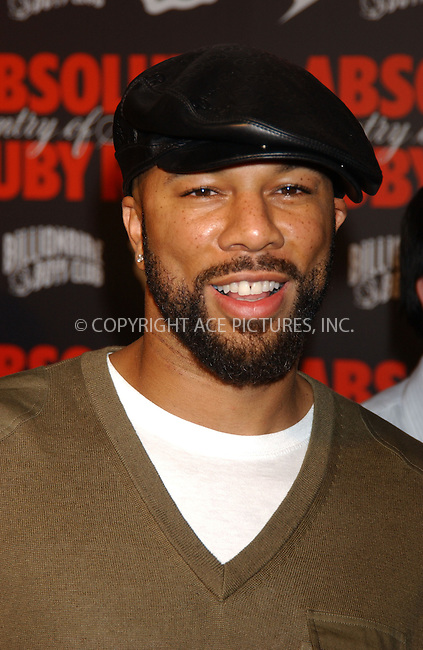 WWW.ACEPIXS.COM . . . . . ....August 30, 2006, New York City. ....Common attends the Pre-VMA Party hosted by Pharrell Williams and Absolut Ruby Red.....Please byline: KRISTIN CALLAHAN - ACEPIXS.COM.. . . . . . ..Ace Pictures, Inc:  ..(212) 243-8787 or (646) 769 0430..e-mail: info@acepixs.com..web: http://www.acepixs.com