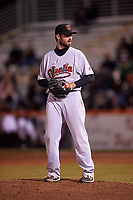 Visalia Rawhide relief pitcher Kevin McCanna (23) during a California League game against the San Jose Giants on April 12, 2019 at San Jose Municipal Stadium in San Jose, California. Visalia defeated San Jose 6-2. (Zachary Lucy/Four Seam Images)