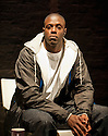 "18/05/2011.  ""Mad Blud"" opens at Theatre Royal Stratford East. A new work exploring the reality behind the headlines of knife crime. Picture shows Dwayne Hutchinson. Photo credit should read Jane Hobson"