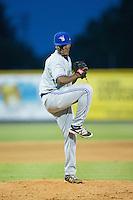 Bluefield Blue Jays relief pitcher Jose Nova (30) in action against the Burlington Royals at Burlington Athletic Stadium on June 27, 2016 in Burlington, North Carolina.  The Royals defeated the Blue Jays 9-4.  (Brian Westerholt/Four Seam Images)