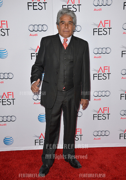 Chilean miner Mario Gomez at the premiere of &quot;The 33&quot;, part of the AFI FEST 2015, at the TCL Chinese Theatre, Hollywood. <br /> November 9, 2015  Los Angeles, CA<br /> Picture: Paul Smith / Featureflash